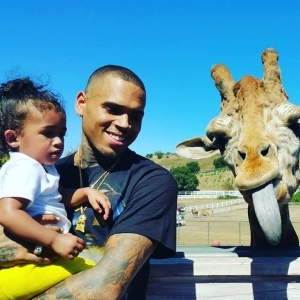 Chris Brown Visits The Zoo With His Daughter, Royalty [See Photos]